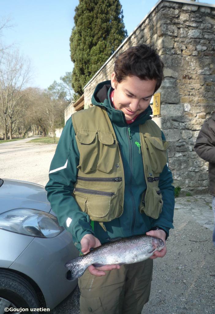 Guillaume - truite 38cm - Alzon - 12 mars 2016